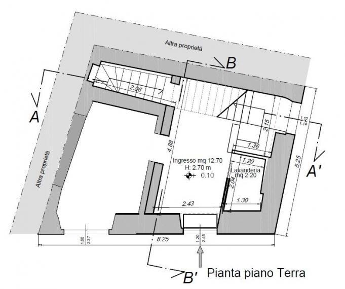 Fano - zona centro - schiera di testa in vendita