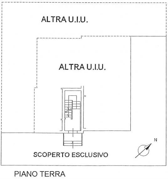 Fano - zona ospedale - schiera centrale in vendita