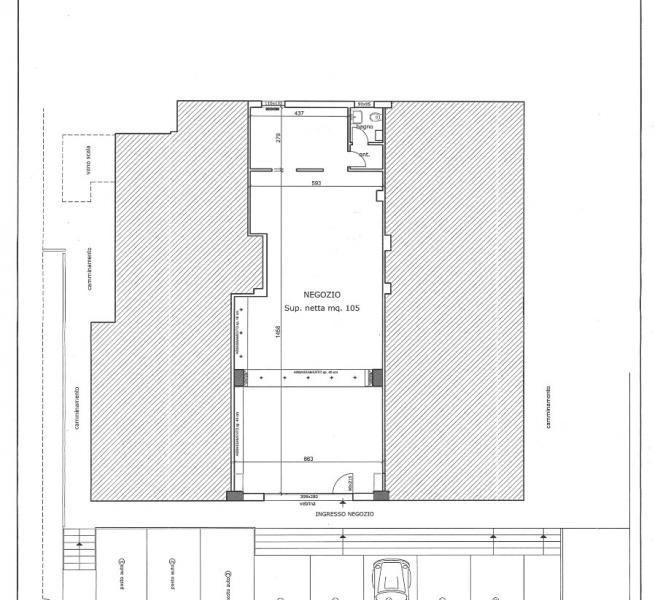 Fano - zona gimarra - ufficio in locazione